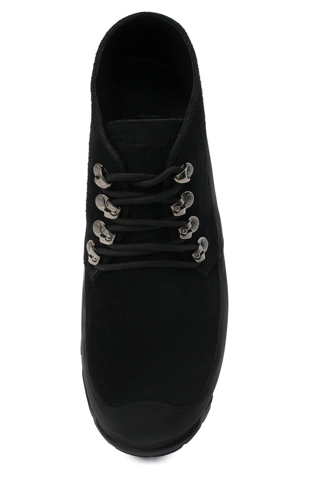Мужские комбинированные ботинки DIEMME черного цвета, арт. DI1907AS01/M   Фото 5