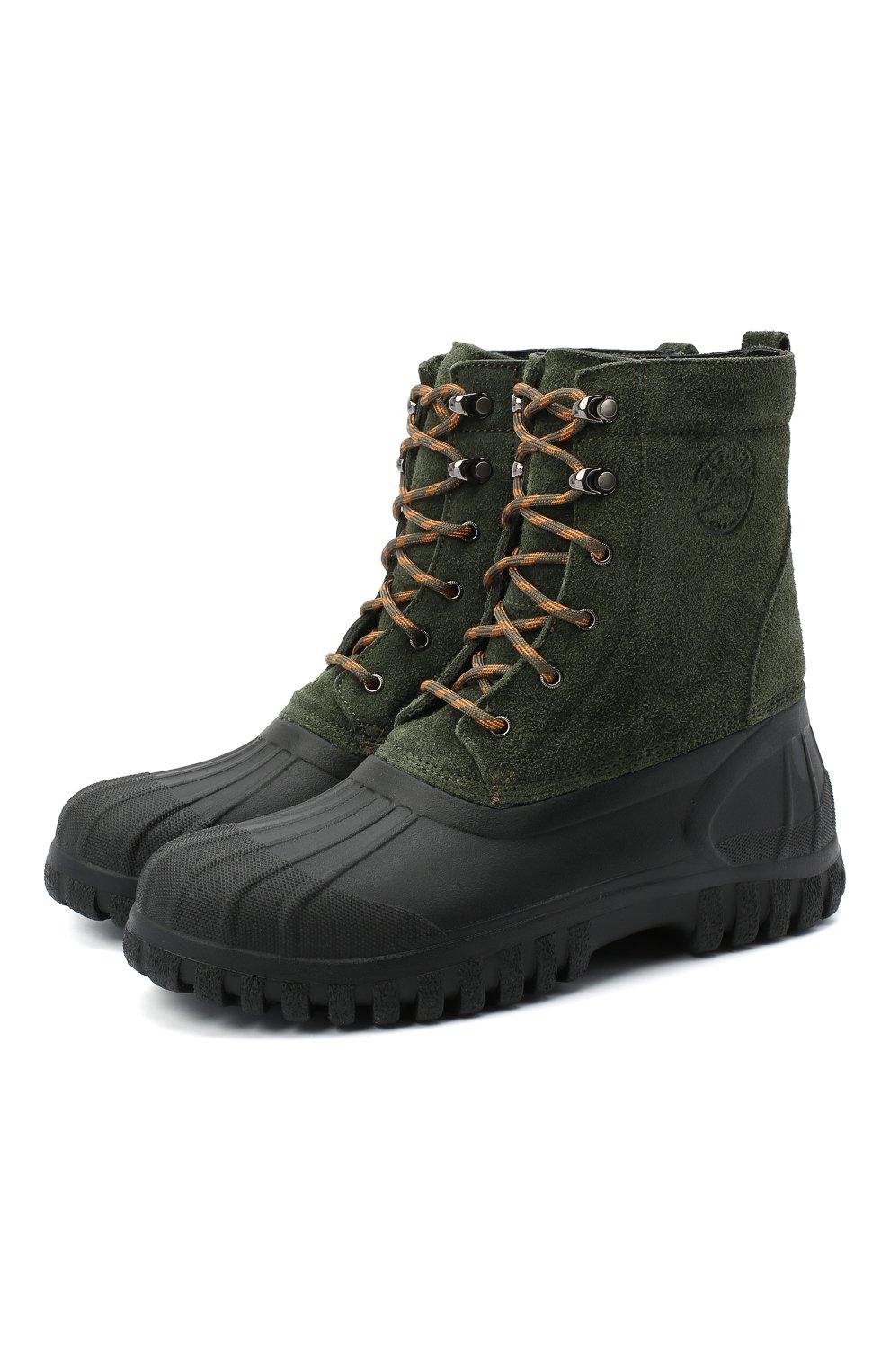 Мужские комбинированные ботинки DIEMME зеленого цвета, арт. DI2007AN08/M   Фото 1