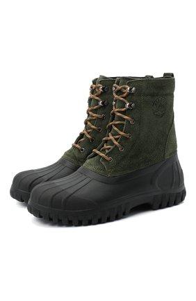 Мужские комбинированные ботинки DIEMME зеленого цвета, арт. DI2007AN08/M | Фото 1