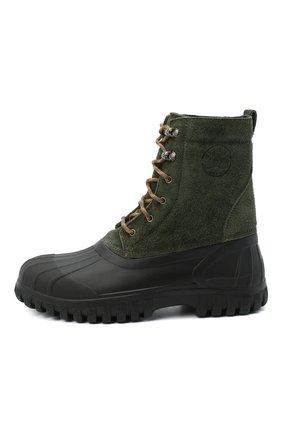 Мужские комбинированные ботинки DIEMME зеленого цвета, арт. DI2007AN08/M   Фото 3