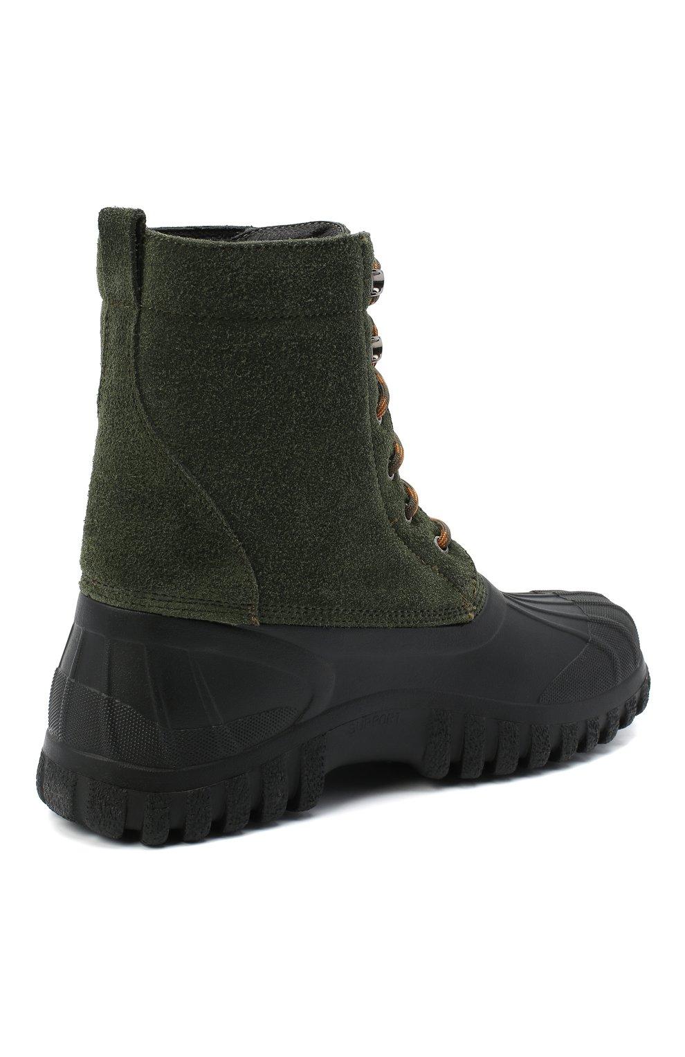 Мужские комбинированные ботинки DIEMME зеленого цвета, арт. DI2007AN08/M   Фото 4