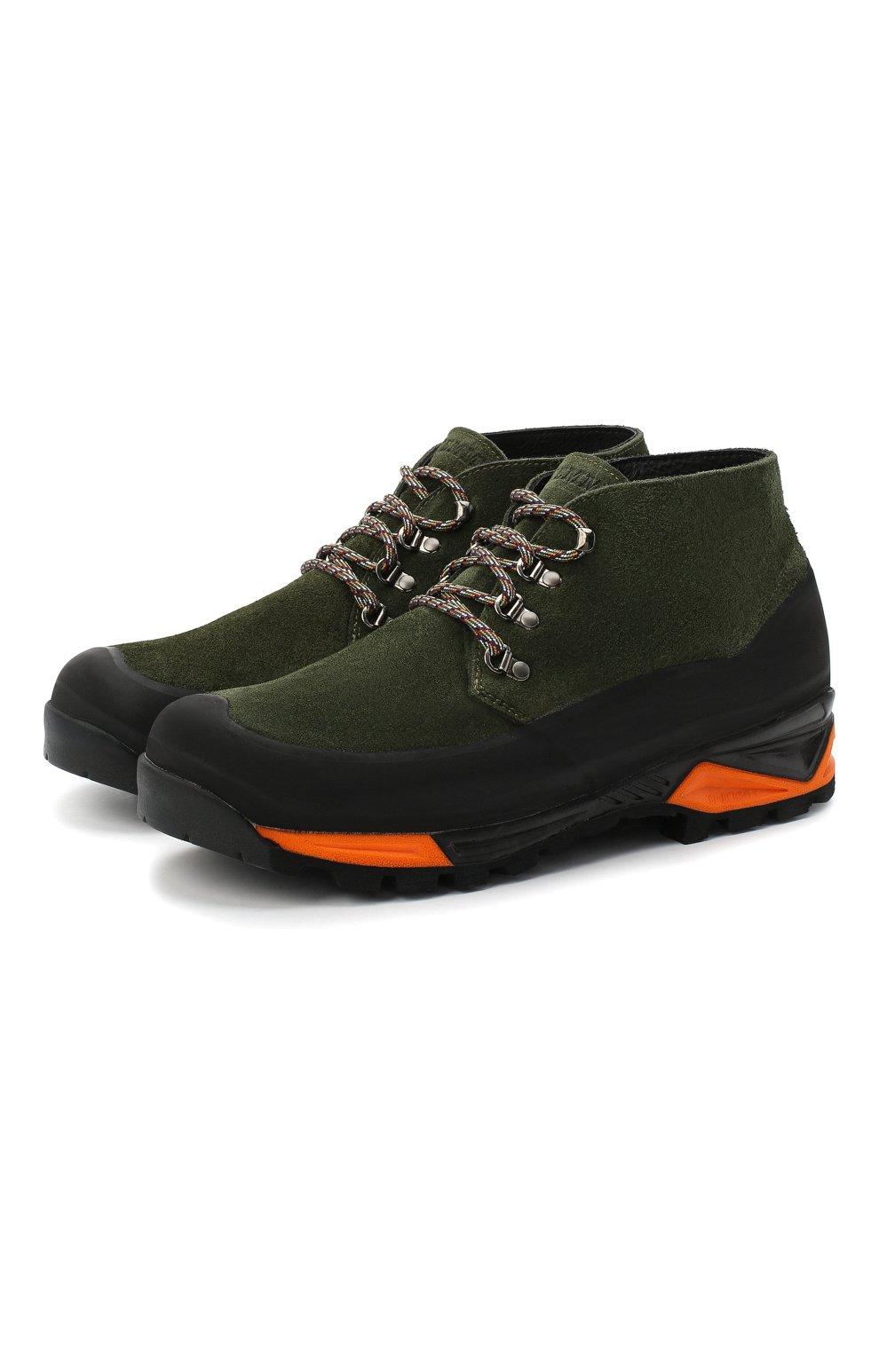 Мужские комбинированные ботинки DIEMME темно-зеленого цвета, арт. DI2007AS02/M | Фото 1