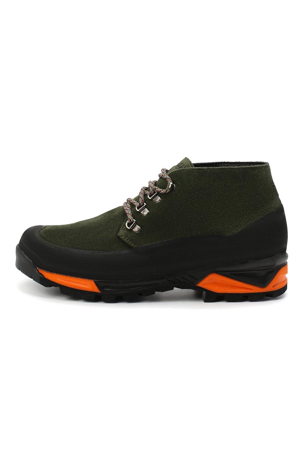 Мужские комбинированные ботинки DIEMME темно-зеленого цвета, арт. DI2007AS02/M | Фото 3