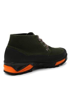 Мужские комбинированные ботинки DIEMME темно-зеленого цвета, арт. DI2007AS02/M | Фото 4