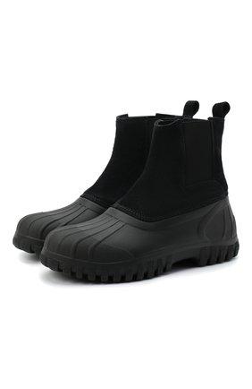 Мужские комбинированные сапоги DIEMME черного цвета, арт. DI2007BL01/M | Фото 1