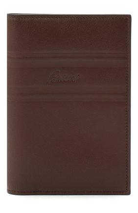 Мужской кожаная обложка для паспорта BRIONI темно-коричневого цвета, арт. 0HSX0L/P9721 | Фото 1