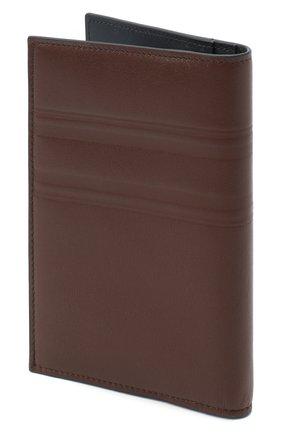 Мужской кожаная обложка для паспорта BRIONI темно-коричневого цвета, арт. 0HSX0L/P9721 | Фото 2