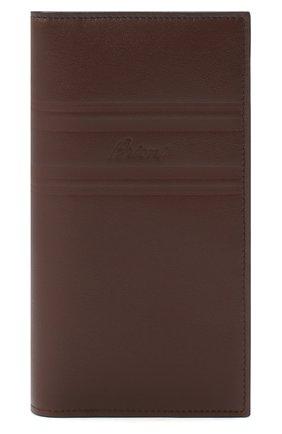 Мужской кожаное портмоне BRIONI темно-коричневого цвета, арт. 0HSY0L/P9721 | Фото 1
