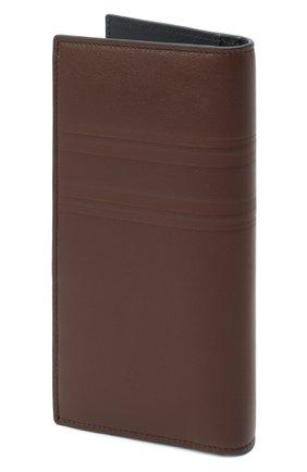 Мужской кожаное портмоне BRIONI темно-коричневого цвета, арт. 0HSY0L/P9721 | Фото 2