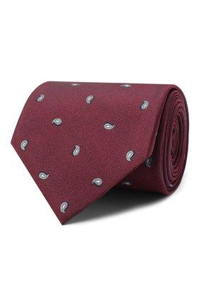 Мужской шелковый галстук BRIONI бордового цвета, арт. 062I00/09484 | Фото 1