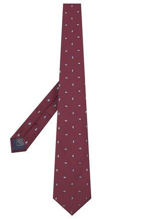 Мужской шелковый галстук BRIONI бордового цвета, арт. 062I00/09484 | Фото 2