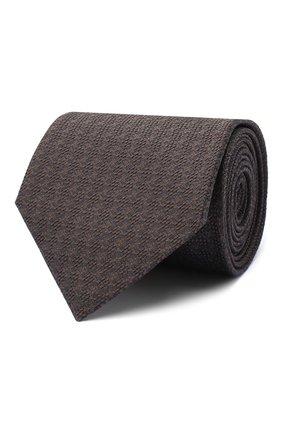 Мужской шелковый галстук BRIONI темно-коричневого цвета, арт. 062I00/09472 | Фото 1