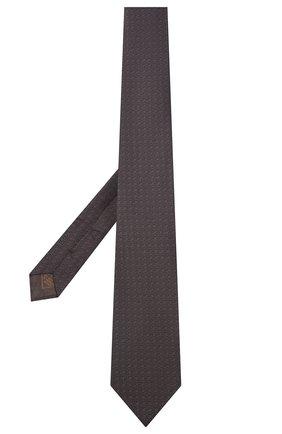 Мужской шелковый галстук BRIONI темно-коричневого цвета, арт. 062I00/09472 | Фото 2