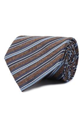 Мужской шелковый галстук BRIONI коричневого цвета, арт. 062I00/09471 | Фото 1