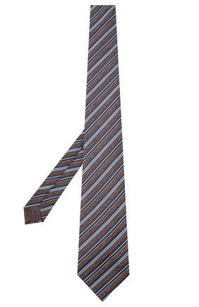 Мужской шелковый галстук BRIONI коричневого цвета, арт. 062I00/09471 | Фото 2