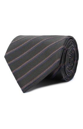 Мужской шелковый галстук BRIONI серого цвета, арт. 062I00/09470 | Фото 1
