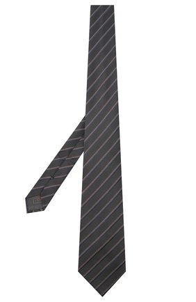 Мужской шелковый галстук BRIONI серого цвета, арт. 062I00/09470 | Фото 2