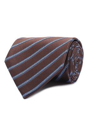 Мужской шелковый галстук BRIONI коричневого цвета, арт. 062I00/09470 | Фото 1