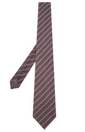 Мужской шелковый галстук BRIONI коричневого цвета, арт. 062I00/09470 | Фото 2