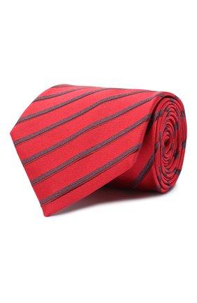 Мужской шелковый галстук BRIONI красного цвета, арт. 062I00/09470 | Фото 1