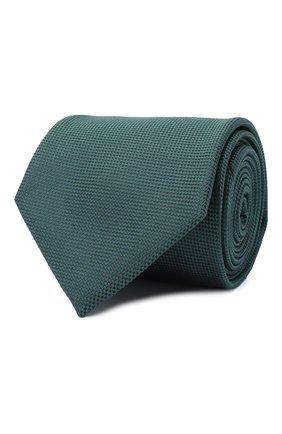 Мужской шелковый галстук BRIONI зеленого цвета, арт. 062I00/09459 | Фото 1