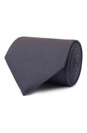 Мужской шелковый галстук BRIONI темно-синего цвета, арт. 062I00/09459   Фото 1