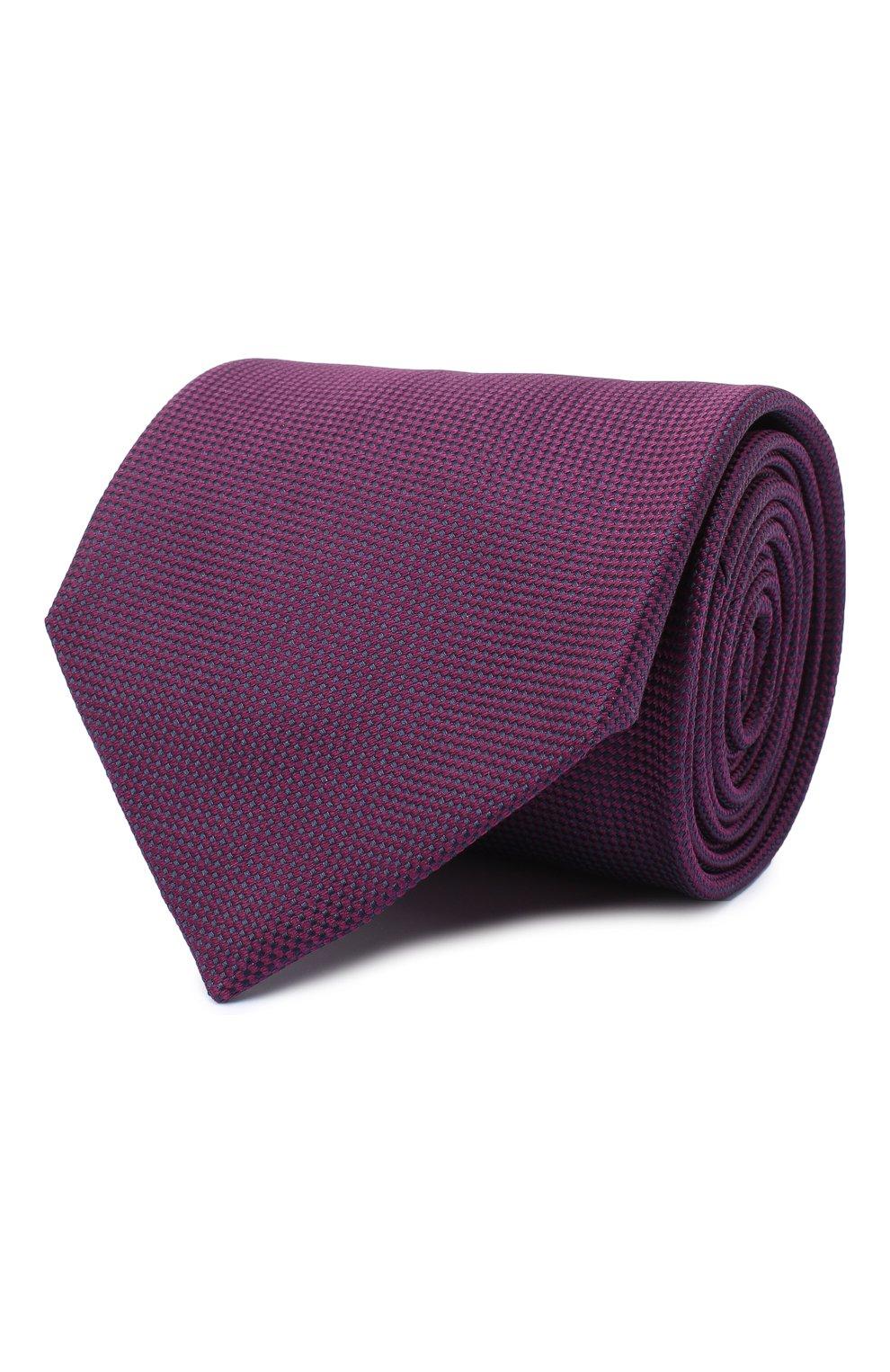 Мужской шелковый галстук BRIONI фиолетового цвета, арт. 062I00/09459 | Фото 1 (Материал: Текстиль; Принт: Без принта)