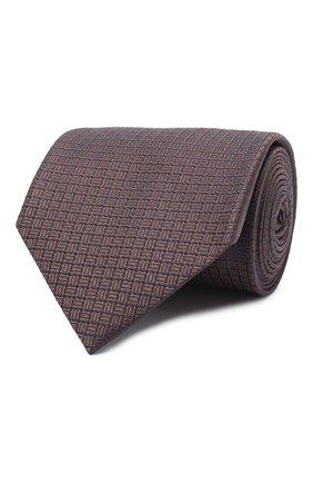 Мужской шелковый галстук BRIONI темно-коричневого цвета, арт. 062I00/09457 | Фото 1