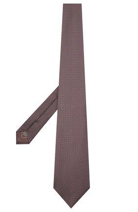 Мужской шелковый галстук BRIONI темно-коричневого цвета, арт. 062I00/09457 | Фото 2