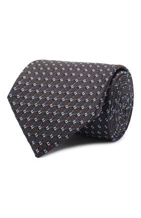 Мужской шелковый галстук BRIONI темно-коричневого цвета, арт. 062I00/09436 | Фото 1