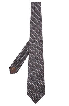 Мужской шелковый галстук BRIONI темно-коричневого цвета, арт. 062I00/09436 | Фото 2