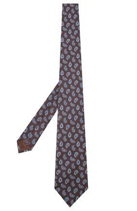 Мужской шелковый галстук BRIONI коричневого цвета, арт. 062I00/09428 | Фото 2