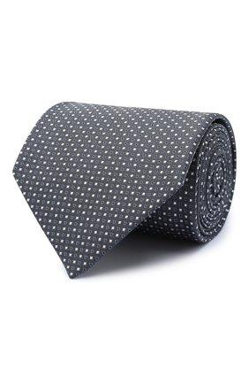 Мужской шелковый галстук BRIONI серого цвета, арт. 062I00/09426 | Фото 1