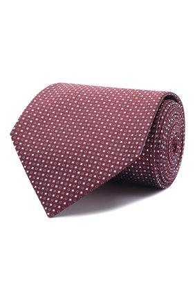 Мужской шелковый галстук BRIONI бордового цвета, арт. 062I00/09426 | Фото 1