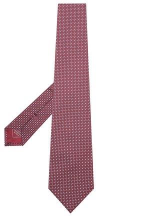 Мужской шелковый галстук BRIONI бордового цвета, арт. 062I00/09426 | Фото 2