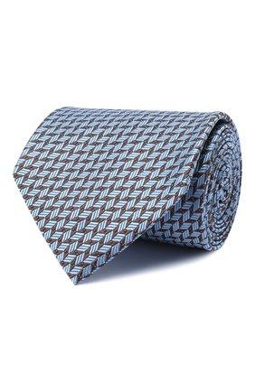 Мужской шелковый галстук BRIONI голубого цвета, арт. 062I00/09424 | Фото 1