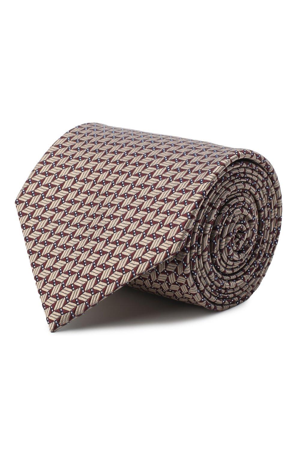 Мужской шелковый галстук BRIONI темно-коричневого цвета, арт. 062I00/09424 | Фото 1