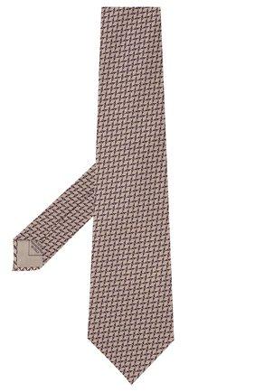 Мужской шелковый галстук BRIONI темно-коричневого цвета, арт. 062I00/09424 | Фото 2