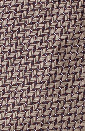 Мужской шелковый галстук BRIONI темно-коричневого цвета, арт. 062I00/09424 | Фото 3