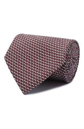 Мужской шелковый галстук BRIONI бордового цвета, арт. 062I00/0941Z | Фото 1