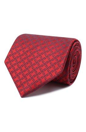 Мужской шелковый галстук BRIONI красного цвета, арт. 062I00/0842A | Фото 1