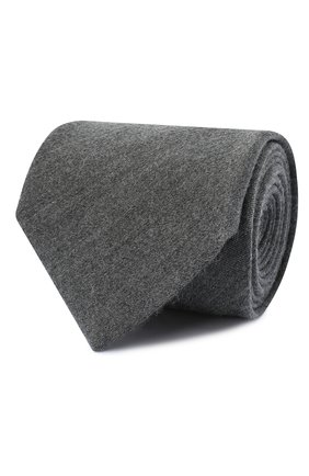 Мужской галстук из кашемира и шелка BRIONI серого цвета, арт. 062H00/09475 | Фото 1 (Материал: Кашемир, Шерсть, Текстиль; Принт: Без принта)