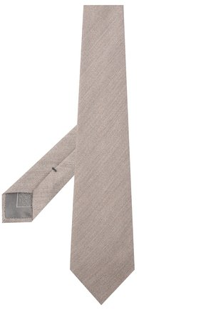 Мужской галстук из кашемира и шелка BRIONI бежевого цвета, арт. 062H00/09475 | Фото 2