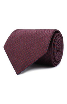 Мужской шелковый галстук BRIONI бордового цвета, арт. 062H00/09462 | Фото 1