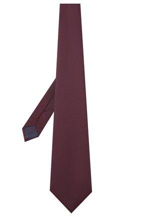 Мужской шелковый галстук BRIONI бордового цвета, арт. 062H00/09462 | Фото 2