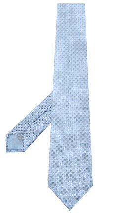 Мужской шелковый галстук BRIONI голубого цвета, арт. 062H00/09455 | Фото 2 (Принт: С принтом; Материал: Текстиль)
