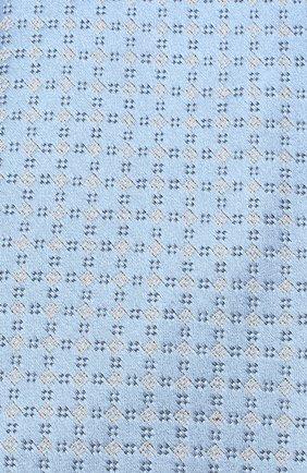 Мужской шелковый галстук BRIONI голубого цвета, арт. 062H00/09455 | Фото 3 (Принт: С принтом; Материал: Текстиль)