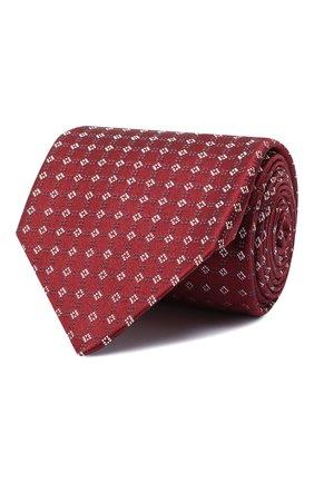 Мужской шелковый галстук BRIONI красного цвета, арт. 062H00/09455 | Фото 1