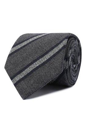 Мужской шелковый галстук BRIONI темно-серого цвета, арт. 062H00/0941H | Фото 1