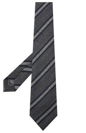 Мужской шелковый галстук BRIONI темно-серого цвета, арт. 062H00/0941H | Фото 2